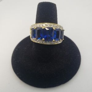 Blue & Gold Statement Ring